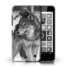 iCHOOSE Print Motif Coque de protection Case / Plastique manchon de telephone Coque pour Nokia Lumia 635 / Collection Animaux de zoo / Loup