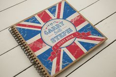 Union Jack spiral bound Guestbook from the stationary range by Dottie Creations www.dottiecreations.com