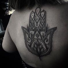 My (almost) hidden passion for ink — rsjhrsjhrsjh: Thanks for coming in Gabi. I've got space for tattoos throughout the coming weeks. Rsjh.artwork@gmail.com #art #tattoo #linear #linework #dotwork #blackwork #hamsatattoo #hamsahand #oriental #mandala #blacktattooart #blxckink #btattooing #blackworkerssubmission #onlyblackart #ink #dublin #dublincity