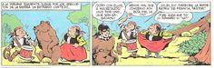 Viñetas procedente de la serie de historieta «Los Guerrilleros», con guión de Andrade y dibujos de Juan Bernet Toledano. La editorial Doncel publicó con el número 3 en la «Colección Trinca» en septiembre de 1970.
