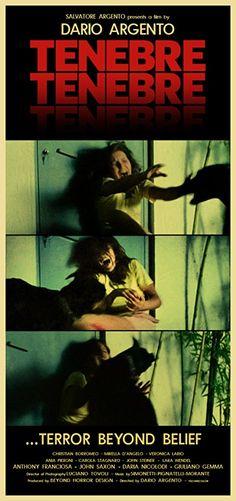 Tenebrae # Tenebre # Dario Argento # Beyond Horror Design Best Horror Movies, Classic Horror Movies, Horror Films, Scary Movies, Horror Movie Posters, Movie Poster Art, Film Posters, Dario Argento, Non Plus Ultra