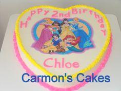 A Buttercream Princess Themed Birthday Cake