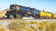 Union Pacific 4014 Big Boy Between Sloan and Jean Nevada Union Pacific Train, Union Pacific Railroad, Railroad Photography, Landscape Photography, Big Boy 4014, Railroad Pictures, Train Art, Train Pictures, Steam Locomotive