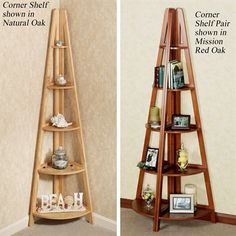 Escalera Wooden Corner Shelves