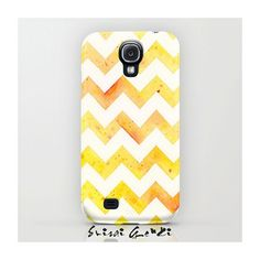 SAMSUNG GALAXY S4, Phone Case, Sunset Chevron, Yellow Chevron, Orange tone, Yellow Tone, Watercolor Painting by Suisai Genki, Orange Chevron Click and win a Samsung Galaxy S IV #samsung #galaxy #s4