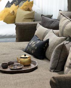 Canape Boho Xl Maison De Vacances Tissu Lin Stoned Washed Long 235 Cm Profond 145 Cm Haut 80 Cm Haut D Assise 40 En 2020 Maison De Vacances Canape Profond Canape