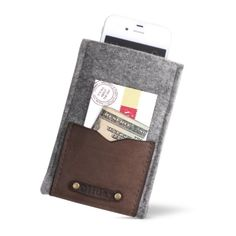 Leather and Felt iPhone Case