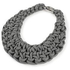 Knot bib necklace