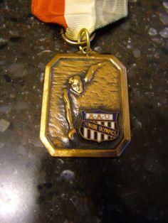 VINTAGE 1960 AAU JUNIOR OLYMPICS 15-16 Boys Swimming Bronze Medal