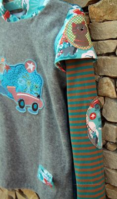 Xater Shirt for boys #pattern @Andrea Mueller Jolijou from @Farbenmix with @Susanne Firmenich @Hamburger Liebe #fabric and #embroidery