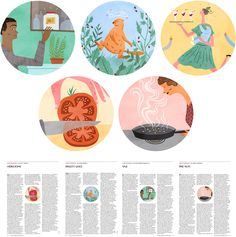 Illustrations for the New Yorker food issue 2011