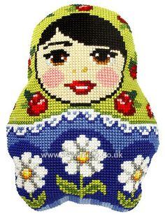 Russian Doll 3 Cushion Front Chunky Cross Stitch Kit