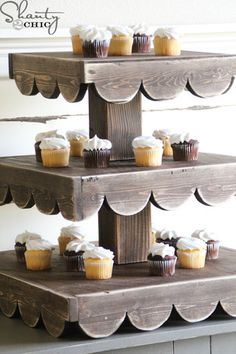 DIY plans for a Rustic Cupcake Stand