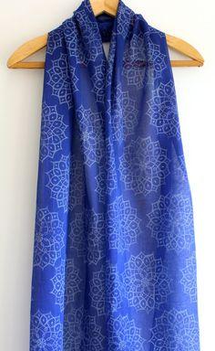 White African motif on Cobalt blue hand block by KerryCherry