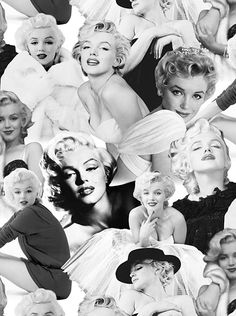 Marilyn Monroe - In Black & White - DIGITAL PRINT - Quilt Fabrics from www.eQuilter.com