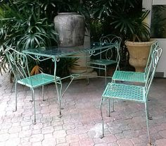 1950's Salterini Table and Chairs by Floridamodern33405 on Etsy, $750.00