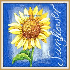 A personal favorite from my Etsy shop https://www.etsy.com/listing/256896988/paper-napkins-for-decoupage-sunflower