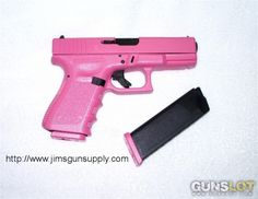 The hubby wants me to get a gun...might as well get a pink one! haha