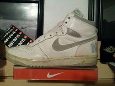 VTG OG 1985 Nike Big White Gray size 11 Terminator Jordan Air  #Nike #AthleticSneakers