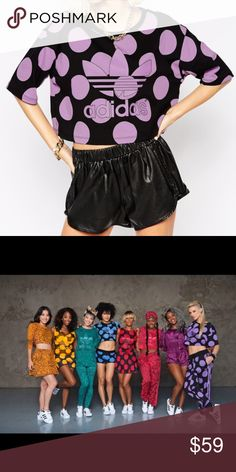 """NWT Adidas Pharrell Williams Dear Baes Crop Top Brand new with tags - guaranteed authentic. Top completely sold out. Size Medium.  23"""" armpit to armpit. 17"""" length. adidas Tops Crop Tops"""