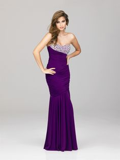 Beautiful purple evening gown.