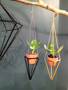 Geometric plant hanger mini himmeli plant holder by meginsherry,