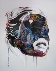 Mixed media artist, Sandra Chevrier, masterfully executes the unlikely combination of superheroes and supermodels. The portraits begin with drawings in ink and Portraits, Portrait Art, Woman Portrait, Pop Art, Sandra Chevrier, Inspiration Drawing, Art Tumblr, Art Series, Gcse Art