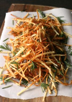 Herby Shoestring Fries. #PureWowRecipes