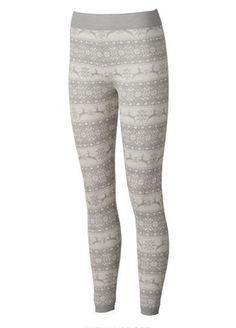 Leggings are beyond cozy and go perfectly with your oversized sweaters. Love these Sweater Knit Leggings ($9.99, kohls.com) in the winter white deer print.