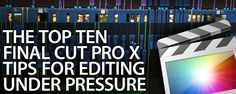 Given two weeks, everybody can edit a piece on FCPX. That's a completely different matter when you've only got a...