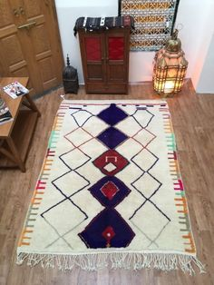This is recently sold out berber rugs , you can inspire your custom made rugs here ! Berber Carpet, Berber Rug, Saddle Blanket, Beni Ourain, Kilim Rugs, Moroccan, Bohemian Rug, Weaving, Handmade