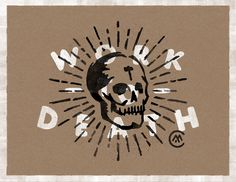 Work to Death by Matthew Cook #lettering #illustration