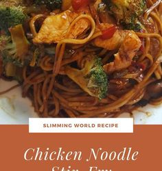 Noodle Stir-Fry – Slimming World -Chicken Noodle Stir-Fry – Slimming World - Quick, easy and delicious Beef Stroganoff. Practically syn-free on Slimming World, only 7 SmartPoints on WW Chicken Stir Fry With Noodles, Pork Stir Fry, Stir Fry Noodles, Stir Fry Dishes, Stir Fry Recipes, Healthy Recipes, Pasta Dishes, Slimming World Noodles, Slimming World Stir Fry