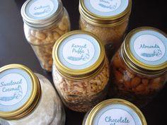 Wide Mouth Mason Jar Labels