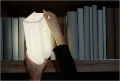 Oooh! I want this! Book-Shaped Light | 24 Insanely Clever Gifts For Book Lovers