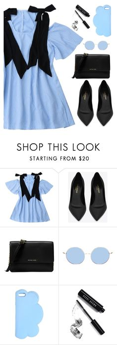 """""""Perfect dress by Zaful 57"""" by deeyanago ❤ liked on Polyvore featuring Yves Saint Laurent, Michael Kors, STELLA McCARTNEY and Bobbi Brown Cosmetics"""