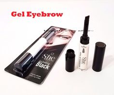 SHE- Gel Eyebrow #BLACK EB02BK Natural Look. She Cosmetic - 100% Authentic Gel Eyebrow with Angled brush This Gel Eyebrow is the perfect way to get fuller, beautifully sculpted brows. She Waterproof Gel Eyebrow helps to give you a precise eyebrow shape with maintaining a natural look. Use brow brush to outline brows Fill in and thicken as desired. Brush out brows to blend. Set with clear or tinted.