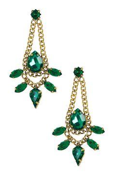 Chain Trim Marquise Teardrop Earrings by Olivia Welles on @HauteLook