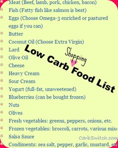 no wheat diet, wheat belly diet ►♥◄ Low Carb Food list: Helpful chart to fill your low carb shopping needs. ►♥◄ Share the Health --  please repin :-)  #carbswitch  carbswitch.com