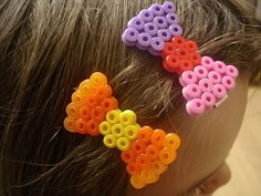 perler bead hair clip