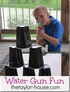 Water guns are just for water fights anymore! This post from our Summer Activities for Kids Series shows you how to have tons of summer Water Gun Fun!