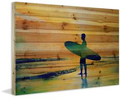 Surf at Dusk Painting Print
