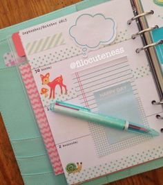 A great idea for making a few notes on cute pieces of paper. Just a bit here and there.