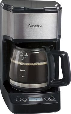 Capresso - 5-Cup Coffeemaker - Black/stainless steel (Black/Silver), 426.05