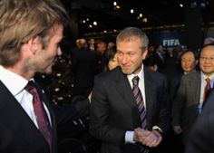Abramovich and Beckham, two of the top millionaires in England