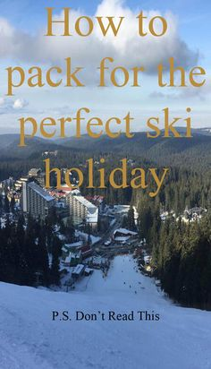 Planning a ski holiday means a lot of preparation and many new things to buy for the first-timer skiers. Here is a list with all the essentials you might need on your next ski trip. Ski Googles, Holiday Packing Lists, Ski Equipment, Travel Tickets, Packing Checklist, Travel Around Europe, Ski Holidays, Skiers, What To Pack