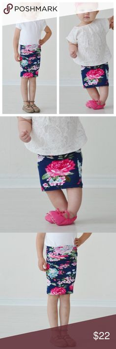 Blue floral skirt This skirt can bring your mess to her Sunday best! Absolutely darling. Now moms, don't panic but I have this skirt in a MATCHING MOMMY SIZE if you want to match your little cutie. 💗  Sizing:  XS (0-12 months) M (4T-5T) L (6-7)  Prices are firm. Bundle 2 or more items to receive 10% off your purchase.   All images are used with permission from the vendor. Boutique Bottoms Skirts