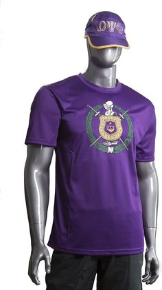 Omega Psi Phi Performance Mens Tee [Purple - M] Omega Psi Phi, Line Jackets, Fraternity, Iron On Patches, Mens Tees, The Unit, Sweatshirts, Crests, Model