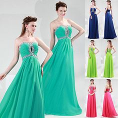 Sweetheart Formal Homecoming Prom Ball Gown Cocktail Long Party Evening Dresses
