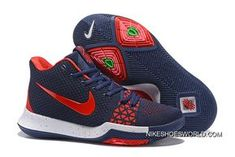 promo code d44eb 23c6b Nike Kyrie 3 Navy Blue Red